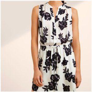 Aritzia BABATON Floral Benedict 100% silk Dress S